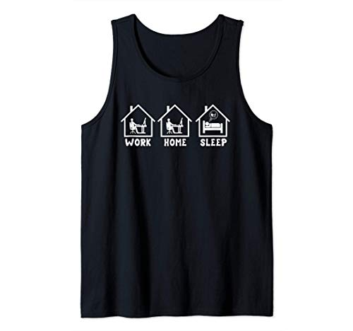 Work Home Sleep Repeat   Funny Working From Home Employee Tank Top