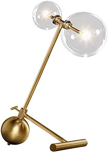 JAOSY Posmoderna Ajustable Bola de Cristal Transparente Hardware Negro lámpara de Mesa Burbuja Bola lámpara de Mesa 38 * 43 cm