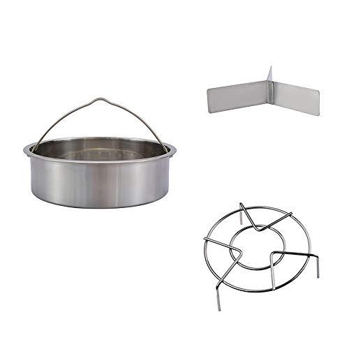 Rejilla de vapor de acero inoxidable de 21 cm Vantskitt, separador de fijación, rejilla de vapor, accesorios combinados multifunción, para cocina, cocina al aire libre