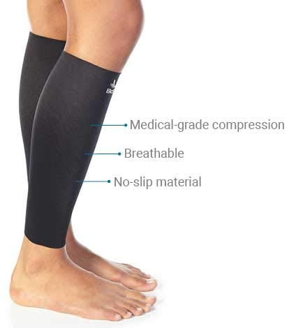 BioSkin Calf Sleeves - Medical-Grade Compression Calf Sleeves for Shin Splints, Shin Pain, Calf Strains, Tight Calves and Enhanced Performance - Hypoallergenic and Breathable - XLarge (Pair)