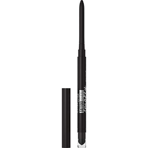 Maybelline TattooStudio Liner Gel Pencil Makeup Long Lasting Waterproof Eyeliner Smudgeproof Matte Finish 36hr Wear Blendable Mechanical Pencil oz, Smokey Black, 0.01 Oz.