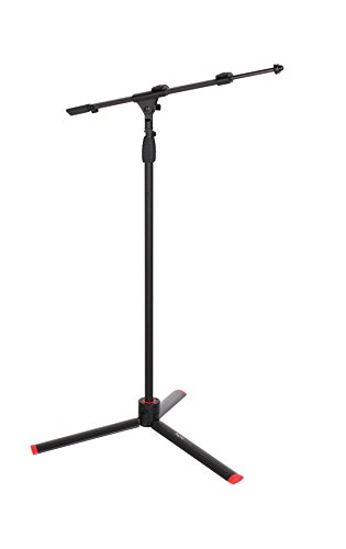Gator Frameworks ID Series Mic Stand with Easily Adjustable CAM Releases and Boom Arm; (GFW-ID-MIC)