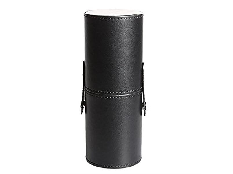同性愛者慢性的練習したOside レザー防水化粧品ブラシとペンホルダー収納メイク空のホルダー(ブラック)
