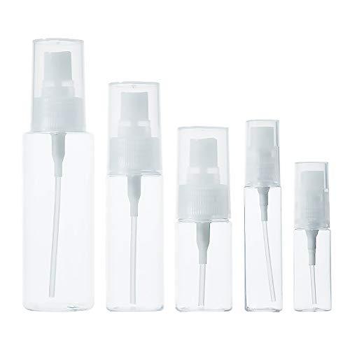 N/A Lot de 10 flacons vaporisateurs de voyage vides rechargeables 12 ml, 18 ml, 30 ml, 50 ml, 100 ml