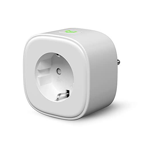 Enchufe Inteligente, Wi-Fi Smart Plug, 16A 3680W, Mide el Consumo, con Control Remoto. Compatible con Alexa, Google Assistant y SmartThings. Modelo MSS310, Gris