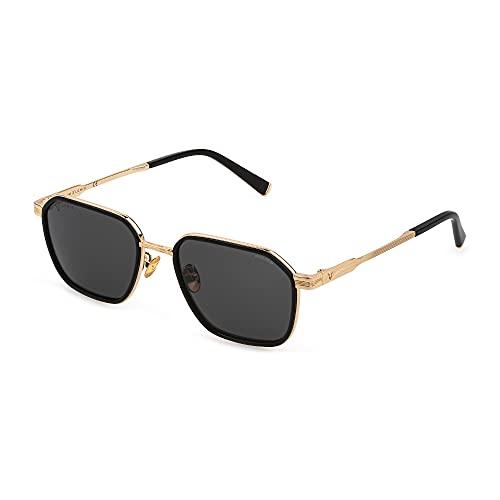 Police Lewis 27 SPLC56 0300 55-19-145 - Gafas de sol unisex, oro rosado, brillo total, lentes ahumadas