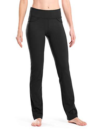 Safort - Yoga-Hosen für Damen in 4 Hosentaschen, Schwarz, Größe L