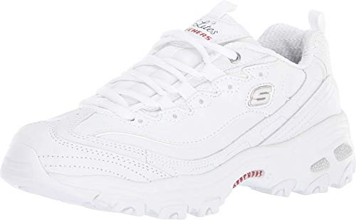 Skechers D'Lites - Fresh Start White/Navy/Red 5