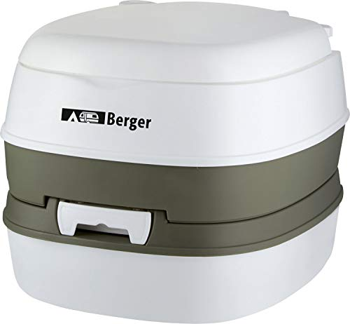 BERGER Mobil WC Comfort Campingtoilette Mobile Toilette Camping bis 130 kg Kolbenpumpe Wohnwagen