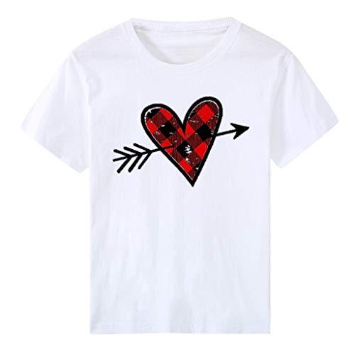 Zylione T-Shirt Tops Blusen Pärche Shirts Geschenk Couple Partner Geschenke Urlaub Stil Spaß Hemden Rentier Hemden Sweatshirts Rundhalsausschnitt Tops Freundin Geschenke(H-Weiß,34)