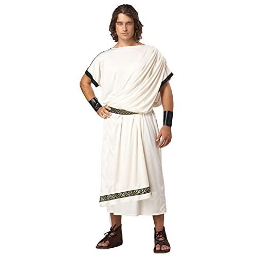 BYYDYSRFLO Traje gtico Steampunk de la Antigua Grecia para Hombre, Disfraz Real Egipcio Medieval Apto para Carnaval, Fiesta de Cosplay de Halloween(Color:White,Size:L)