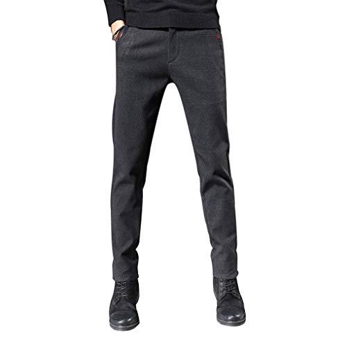MEYLEE Pantalones Casuales de Felpa de Invierno para Hombres, Pantalones Deportivos de algodón con Bolsillos, Pantalones de Jogging para Hombres, Pantalones Deportivos Casuales,Gray Plus Velvet,33