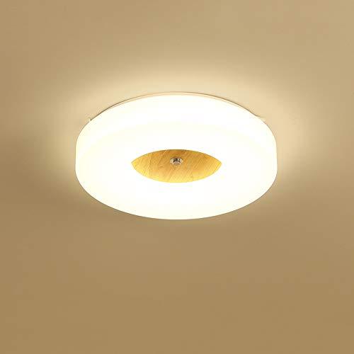 Lighfd LED Disk Light Kroonluchter Plafondlamp inbouw 18W Circle Moderne Inrichting for Living Badkamer Keuken Slaapkamer Balkon Daylight Hout Kleur Planken Ronde Dunne