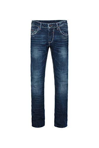 Camp David Herren Regular Fit Dark Used Jeans