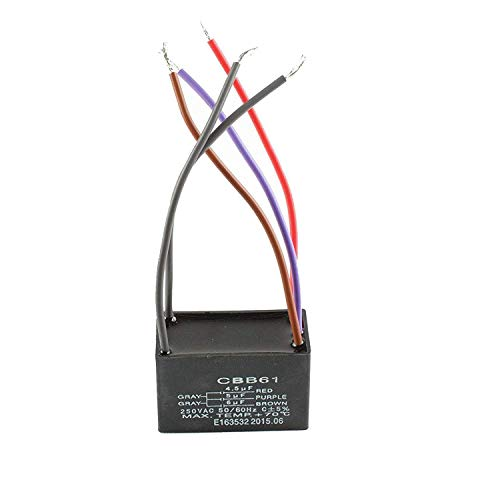 2 Wadoy CBB61 5 Hilos Ventilador de techo Condensador para nuevo Tech 5+5+5uf 50//60Hz 250VAC