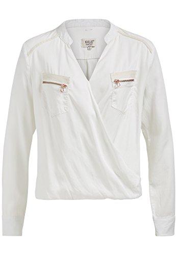 khujo Damen Langarmshirt Malena 1640SH171 (109 Offwhite, L)