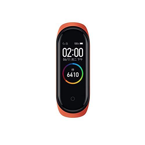 Xiaomi Mi Band 4 - Reloj inteligente para adultos, unisex, talla única, color naranja, azul, burdeos y negro, naranja