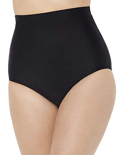 SWIMSUITSFORALL Swimsuits for All Women's Plus Size High Waist Swim Brief 32 Black