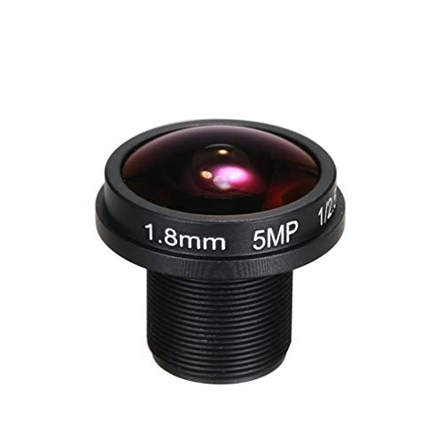 1.8mm Fisheye Lens HD 5,0 megapíxeles IR M12 montaje 1/2.5' F2.0 para cámara IP CCTV