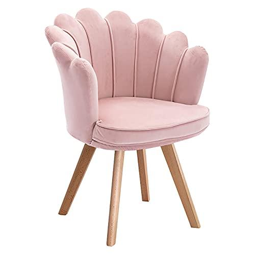 Sedia da pranzo girevole a 360 ° Sedia imbottita girevole, soggiorno con accento, sedia da ufficio in velluto per camera da letto, spogliatoio, rivestimento rimovibile e lavabile, gambe in legno