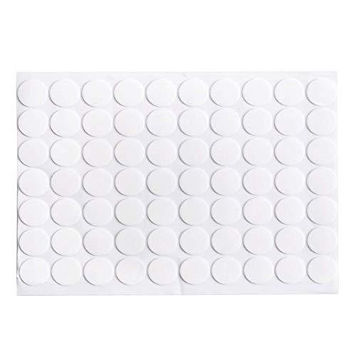 Kentop Doppelseitige Klebepunkte Acryl Transparentes Runde Wasserdicht Doppelseitiges Klebepunkte Ø 20mm, klebrig Keine Spur