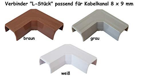 Verbinder Typ 'L' für Kabelkanal 8x9mm, Farbe:Braun