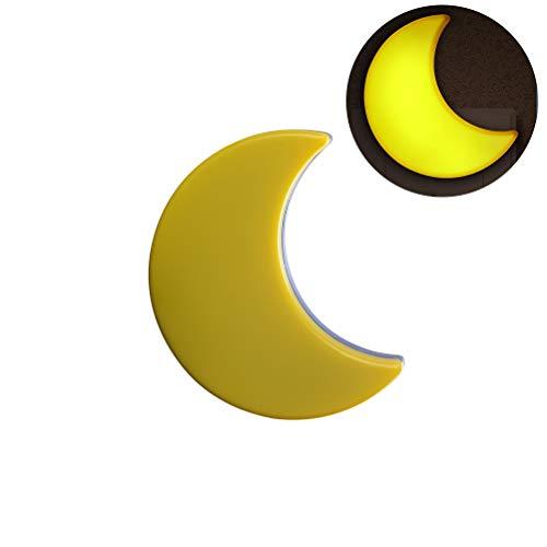 Nachtlicht Kinder, 2 STK.Mond Nachtlicht Steckdose mit Dämmerungssensor automatisch Baby Nachtlicht LED-Sensorsteuerung Nachtlicht für Babyzimme (Gelber Mond)