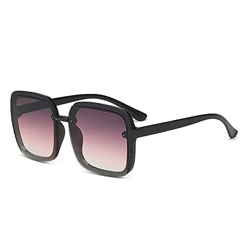 Gafas de sol de mujer de diseño cuadrado de gran marco gafas de sol de señoras gafas máscaras al aire libre playa, e,