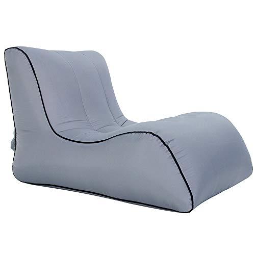 Sofá cama Inflable Portátil, A Prueba De Humedad E Impermeable, Individual Y Reclinable Inflable De Ocio Al Aire Libre (80x100x70cm gray)