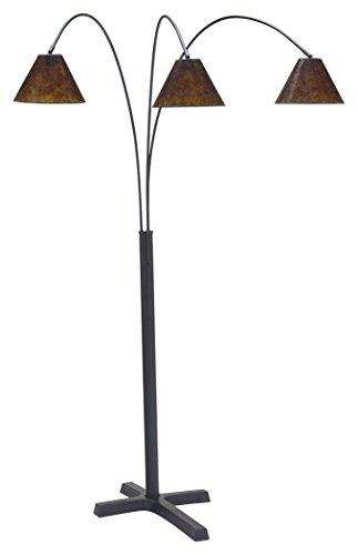 Ashley Furniture Signature Design - Sharde Metal Arc Adjustable Floor Lamp - Matte Black
