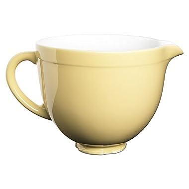 KitchenAid KSMCB5MY 5-Qt. Tilt-Head Ceramic Bowl - Majestic Yellow