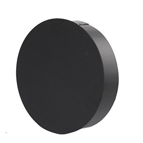 Ø 200 mm - Ofenrohr Blindkappe Schwarz