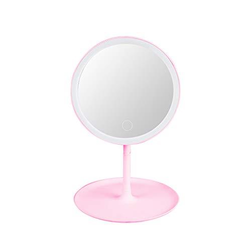Youlin Miroir De Maquillage Lumineux Ronde Écran Tactile USB Rechargeable À Lumière Naturelle À LED Naturelle
