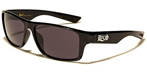 Locs 8LOC9111-BK Sonnenbrille Hypster Urban Poker Rapper, Mode für Damen und Herren