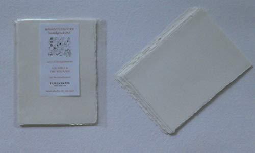 handgeschöpftes Büttenpapier Aquarellpapier A6 10 Bogen/Set extrastark 300g/m² ecru/soft vanilla BaumwollLinters