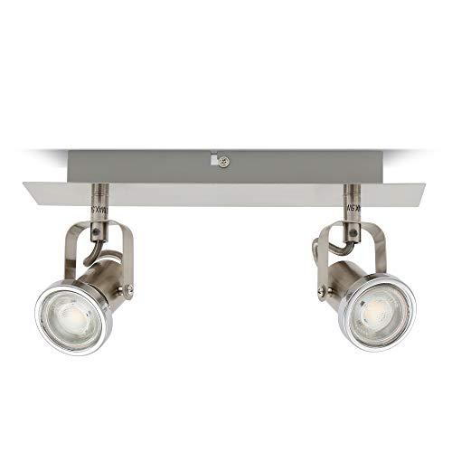 LED Deckenleuchte I schwenkbare Deckenlampe inkl. 2 x 5W 400lm Leuchtmittel I 2 flammig I GU10 I warmweiß