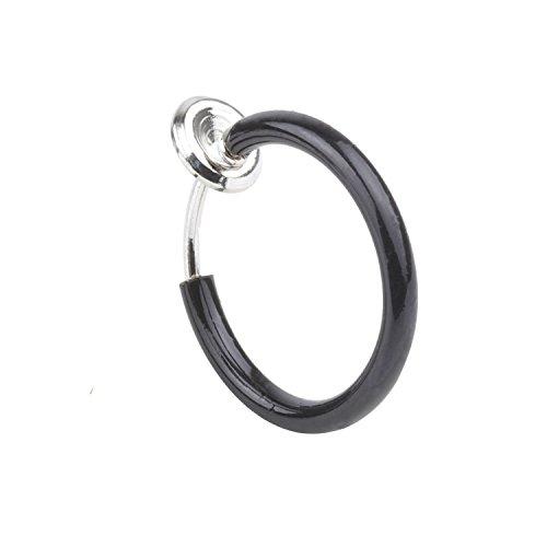 Unisex 1Pcs 8mm Non Piercing Septum Piercing Spring Action Fake Body Jewelry Hoop &401