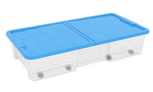 Dea Home Z511M091 Contenitore Master Box, 35 Lt, 77x39x15.5, Trasparente/Blu