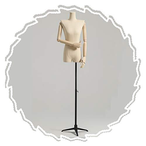 RZEMIN ZEMIN Maniquí de Costura, Exhibición de Busto Simulado de Sastre Femenino, Soporte de Vestido de Novia Modelo Modistas Hombros Anchos, 2 Estilos, 3 Colores (Color : D)