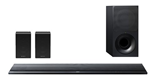 Sony HT-RTZ7 4.1 Multi-room System (HT-CT790 Soundbar, 2x SRS-ZR5 Speaker, 330W (Soundbar), 4K Pass-Thru, NFC, Bluetooth) schwarz