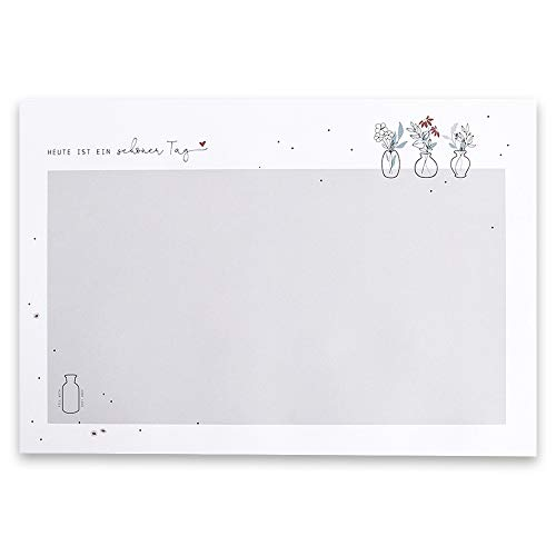 """Odernichtoderdoch Schreibtischunterlage\""""Schöner Tag\"""" - beschriftbare Schreibunterlage mit Kalender - Maße 46,5 x 32 x 0,4 cm"""