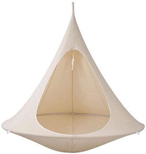 Ufo Shape Conical Tent Tree Hanging Silkworm Cocoon Swing Chair Children And Adults Indoor Outdoor Hammock (Color : White 100cm)