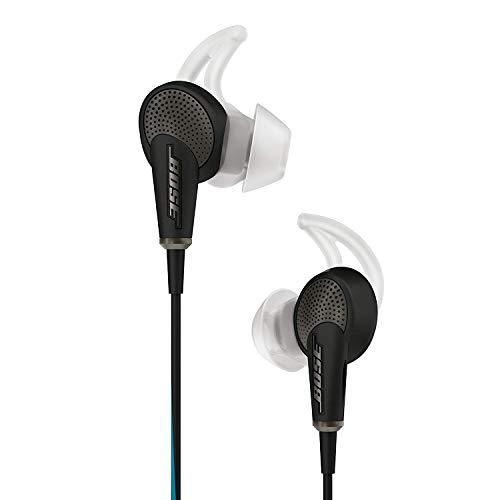 Bose QuietComfort 20 - Auriculares in-Ear compatibles con Samsung y Otros Dispositivos Android, con micrófono, Control Remoto Integrado, reducción de Ruido, Color Negro