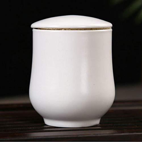 liangh Urns Bio Erwachsene Einäscherung Urne Für Asche Biologisch Abbaubar Urne, Weiß Keramik 5X 5X 7cm,A