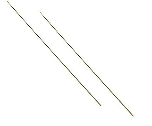 Eurofishing PACK OF x 2 30cm BRASS WORM BAITING NEEDLES - LUGWORM/RAGWORM