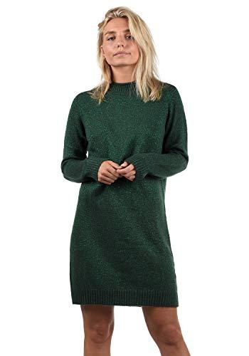 ONLY Wanja Damen Strickkleid Kleid Mit Stehkragen In Midi-Länge, Größe:XL, Farbe:Scarab