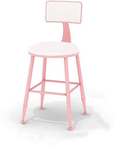 DFJKE Taburete de Bar Silla Alta de Desayuno Redonda de Metal Adecuada para sillas de Mesa de Comedor de Bar al Aire Libre de Cocina Familiar.