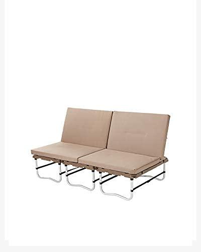 Snow Peak Futon Campfield - SET-200 - Configurations fonctionnelles comme Un lit, Deux chaises Individuelles, futon, conçu au Japon.