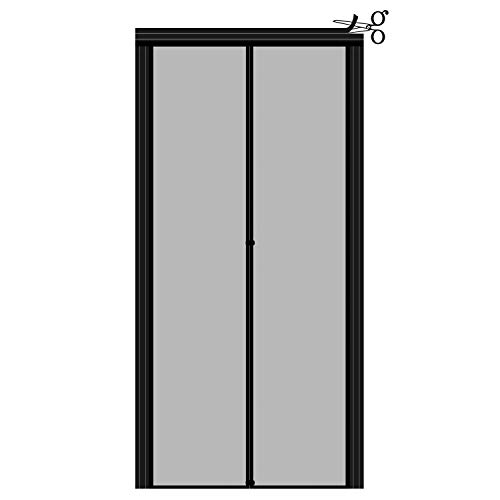 """Adjustable Magnetic Screen Door Fit Doors Size Width 29"""" - 33"""" Height 79"""" - 81"""", Reinforced Fiberglass Insect Fly Mesh with Full Frame Hook&Loop Strip"""