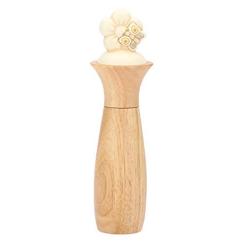 THUN® - Macina Sale, Macina Pepe con Fiore di Pesco e Farfalla - Legno e Ceramica - Linea Elegance